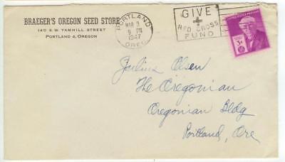 1947 Portland Oregon Braegers Seed Store 140 Sw Yamhill St   3Ct Edison