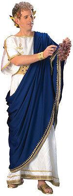 TOGA COSTUME MEN GREEK GOD JULIUS CAESAR ZEUS NERO TUNIC ROMAN ROBE DELUXE (Caesar Kostüme Deluxe)