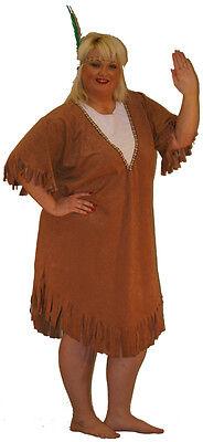 Indianer Squaw, Kostüm costume.cowboys und Indianer, West Übergröße (Cowboys Und Indianer Kostüme)