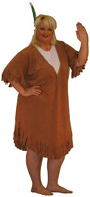 Wild West- Indians-Ladies INDIAN SQUAW Costume Fancy Dress All Plus Sizes  - Plus Size Wild West Costumes