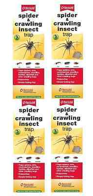 4 x Rentokil Spider & Crawling Insect Trap 3 Per Pack