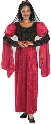 Lady-in-Waiting Renaissance Maiden Queen Fancy Dress Up Halloween Adult Costume](Lady In Waiting Halloween Costume)