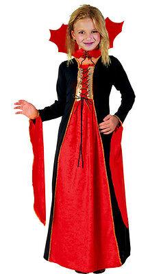 Mädchen mittelalterlich Gothischer Vampir Königin rot schwarz (Alten Vampir Kostüme)