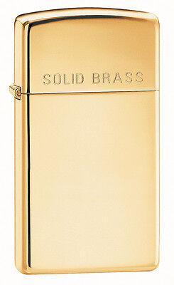 Zippo Windproof, Slim High Polished Solid Brass Lighter, 165