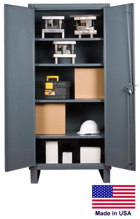 Storage Cabinet Commercial/indl - 12 Gauge Steel - 4 Shelf - Gray - 78x36x18  D