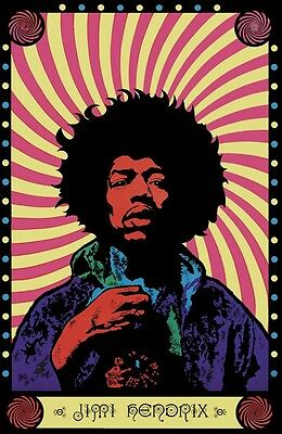 Jimi Hendrix Music Songwriter Singer Guitar Vintage Poster Repo Free Ship In Usa