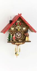 Kuckulino Black Forest Clock Black Forest House with quartz mov.. TU 2050 PQ NEW