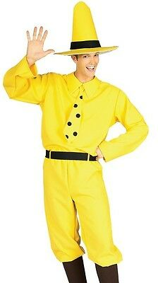 Man In The Yellow Hat Costume (Adult The Man in the Yellow Hat Costume from Curious George - Size Std - Fast)