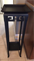 Tall black wrought iron plant stand - good condition