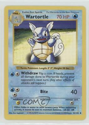 1999 Pokemon Shadowless Unlimited Wartortle #42 0n8