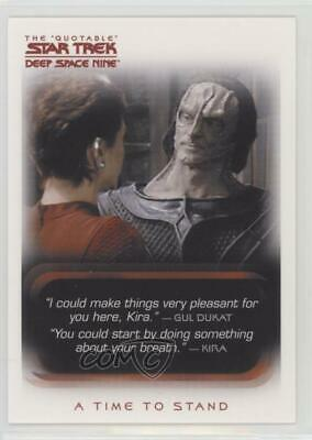 2007 Rittenhouse The Quotable Star Trek: Deep Space Nine #87 A Time to Stand 1i3