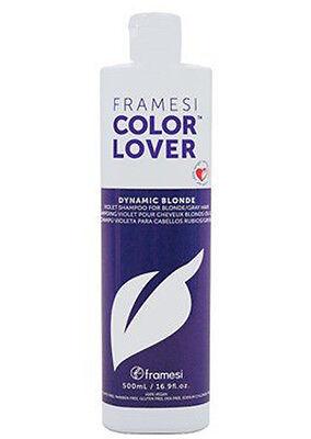 Framesi Color Lover Dynamic Blonde Violet Shampoo 16.9 fl oz/ 500 ml