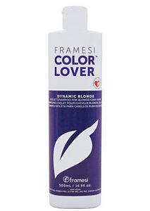 Framesi Color Lover Violet Shampoo 16.9 fl oz/ 500 ml New for Blonde/Grey Hair