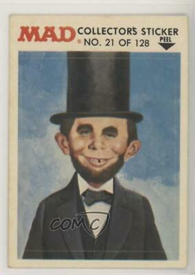 Alfred P Newman (1983 Fleer Mad Stickers Trouble Alfred E Newman as Abe Lincoln #21)