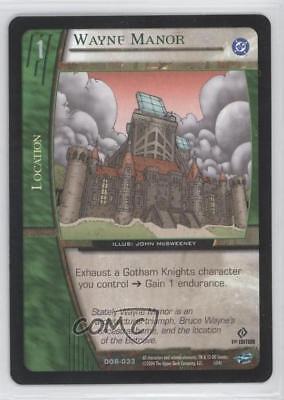 2004 VS System DC Origins Booster Pack Base 1st Edition #DOR-033 Wayne Manor 3v2
