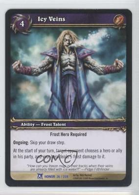 2009 World Of Warcraft Tcg  Fields Honor Booster Pack Base 36 Icy Veins Card 1I3