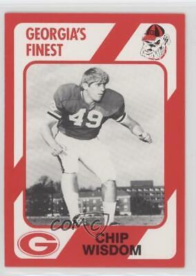1989 Collegiate Collection Georgia Bulldogs Chip Wisdom -
