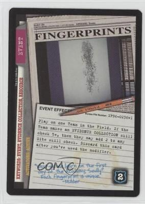 1996 The X-Files Collectible Card Game #NoN Fingerprints Gaming 0f6
