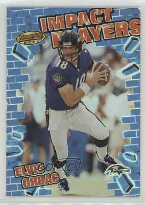 2001 Bowman's Best Impact Players Elvis Grbac (Baltimore Ravens Best Players)