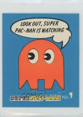 1982 Fleer Super Pac-Man Stickers Look Out is Watching Non-Sports Card 0n8 for sale  Redmond