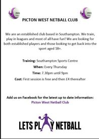 Netball Club looking for new players
