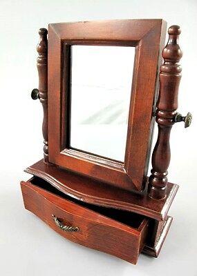 Schmuckschatulle mit Spiegel Schmuckkasten Schmuckbox  Truhe Holz Antik Retro