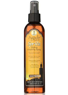 AGADIR Argan Oil Spritz Styling Finishing Spray Extra Firm Hold 8 oz  Extra Firm Finishing Spray