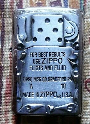 NOVELTY USED ZIPPO EMBLEM ZIPPO LIGHTER FREE P&P FREE FLINTS
