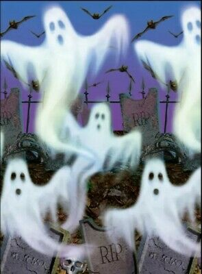 New Most Haunted Halloween (Scene Setters Room Roll Mostly Ghostly  4x40 Ft Halloween Decor Haunted House)