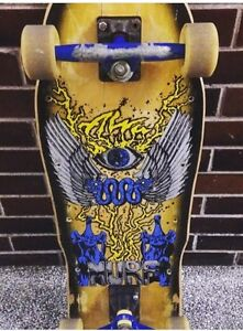 Vintage, original Alva Murf skateboard with trucks