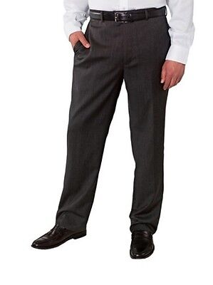 NWT Kirkland Mens Wool Flat Front Dress Slacks Pants -Charcoal Gray Size 36 x 30