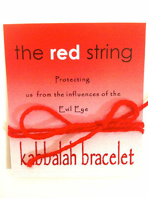 1 blessed Red String KABBALAH bracelet against evil eye, from the holyland