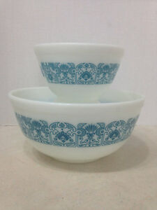 Horizon Blue Pyrex Nesting Bowls, Vintage Pyrex Horizon Blue Mix Kingston Kingston Area image 1