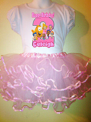 Bubble Guppies Party Dress Birthday 2pc tutuset