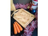 Christmas Chopping Board - Wooden Xmas Cutting Board