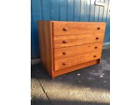 1970s Danish Four Drawer Chest/Media Unit by Domino Mobler. Vintage/Retro/Mid Century