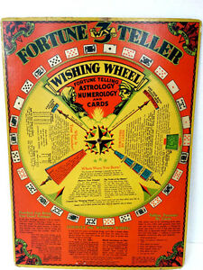 ANTIQUE Fortune Teller Wishing Wheel Game Buckleys 1933