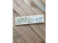Welcome to Our Home Wooden House Warming Gift Sign