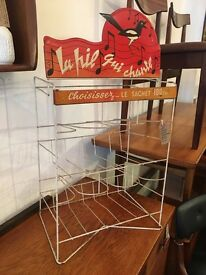 1950s Cadburys owned 'La Pie Que Chante' French Confectionary Stand. Vintage/Retro/Mid Century