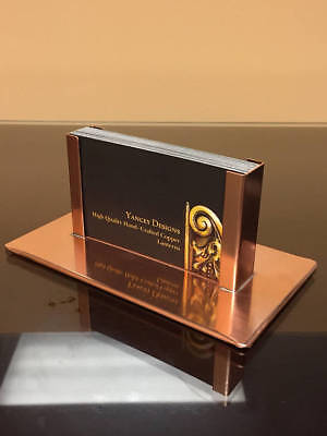 Yancey Handcrafted Copper Business Card Holder Desk Made in USA Anniversary Gift ()