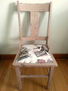 """New"" Paris Chic/Shabby Chic, Vintage, Up-cycled, Wood Chair"