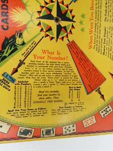 ANTIQUE Fortune Teller Wishing Wheel Game Buckleys 1933 West Island Greater Montréal image 2