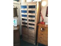 1950s Pine Shop Haberdashey Unit. Vintage/Retro/Mid Century