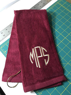 Personalized Golf Towel / Monogrammed / Tri Fold / Velour Terry Towel -