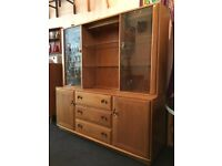 Contemporary Ercol High Sideboard with optional Display Cabinets & Shelving. Vintage/Retro