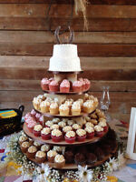 White cupcake stands & towers for RENT only.