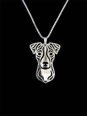 (Jack Russell Terrier Pendant Necklace Silver ANIMAL RESCUE DONATION)