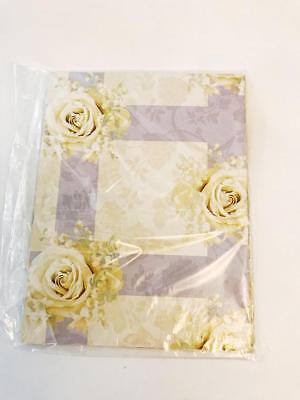 Tender Thoughts Gift Wrap Paper Yellow Roses All Occasion Paper Wedding Bridal (Wedding Gift Wrap)