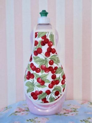 Bottle Apron (Cherries Cherry Country Kitchen Dish Hand Soap Lotion Bottle Apron - fits)