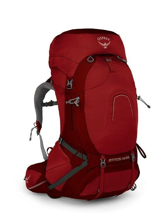 OSPREY Backpack Atmos AG 65 Rigby Red MD 4.56lb